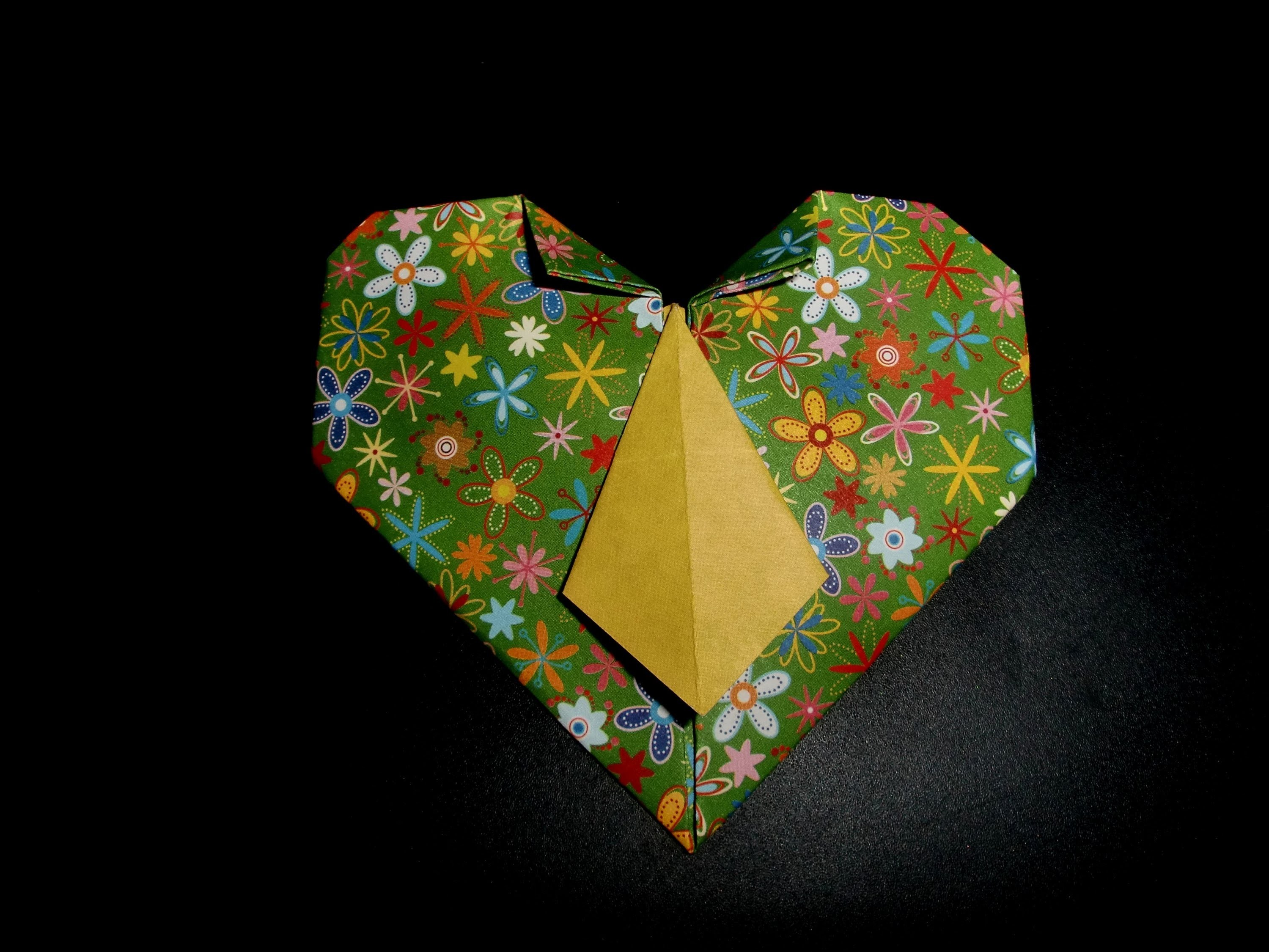 Origami Krawatte im Herz: Tie with Hearth - Tutorial [HD]