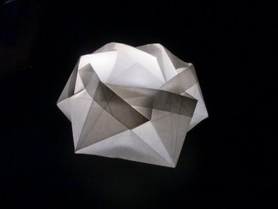 Origami Lichterkranz für Teelichter - Faltanleitung [HD.deutsch]