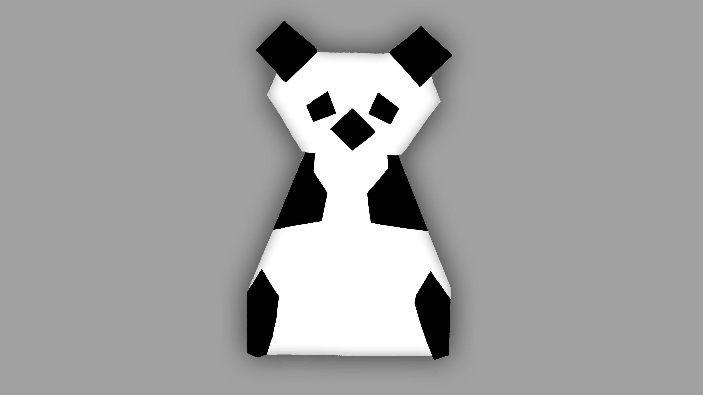 Origami Panda Bär - Faltanleitung (Live erklärt)