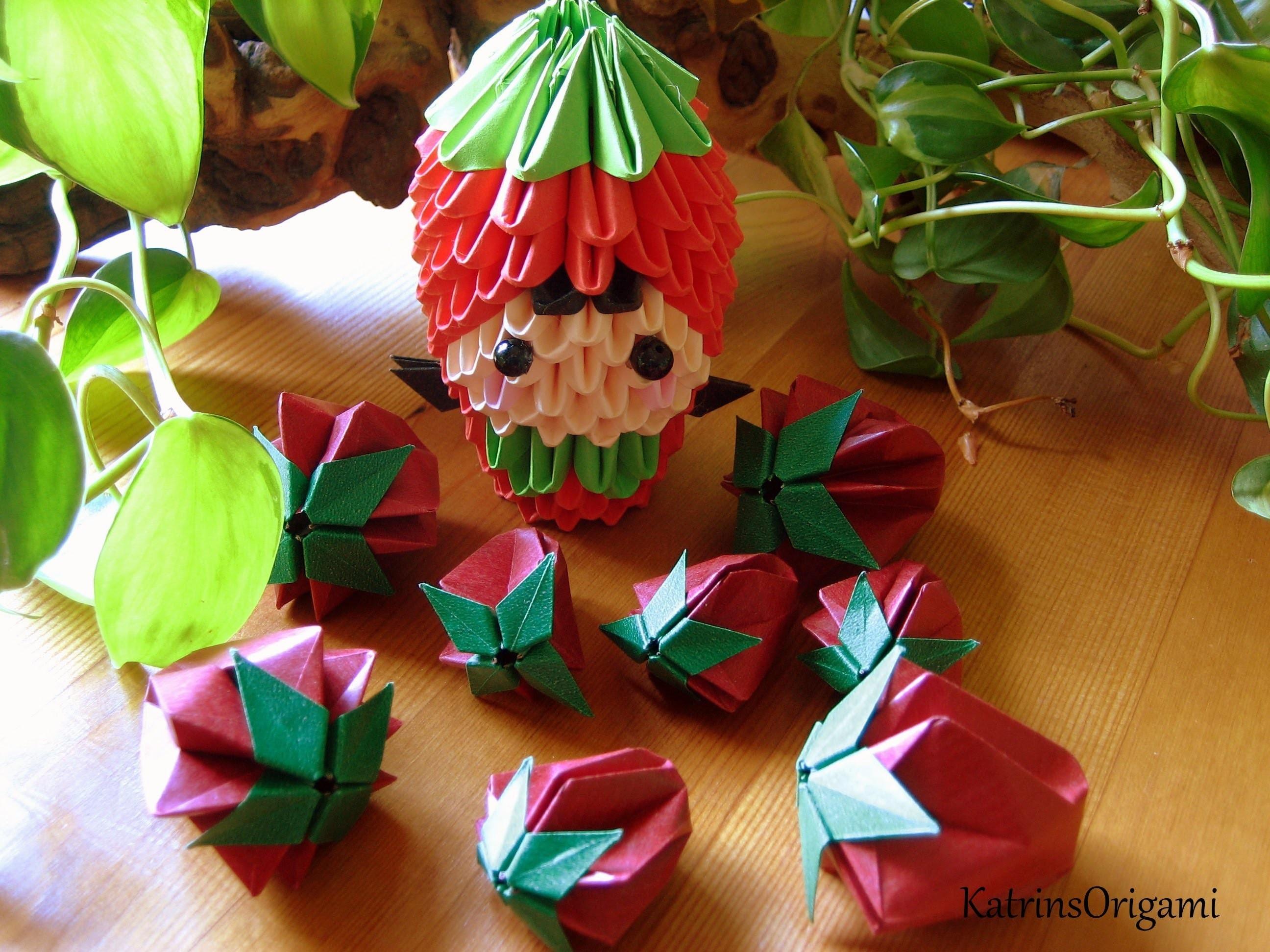Origami ❀ puffy Strawberry ❀