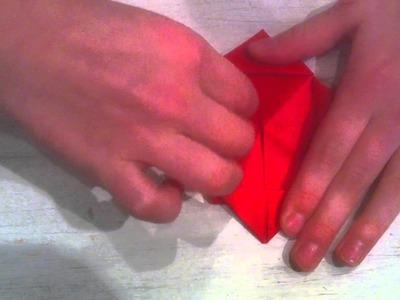 Origami Rose basteln. Rose falten