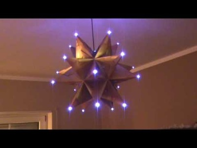 Origami-Stern mit LED-Beleuchtung
