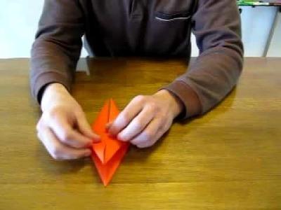 Origami -Wie falte ich einen Kranich-