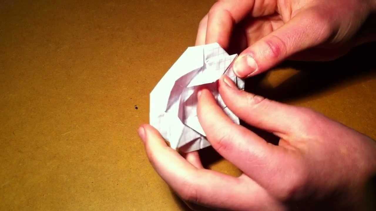 Papier Rose falten - eine Origami Anleitung