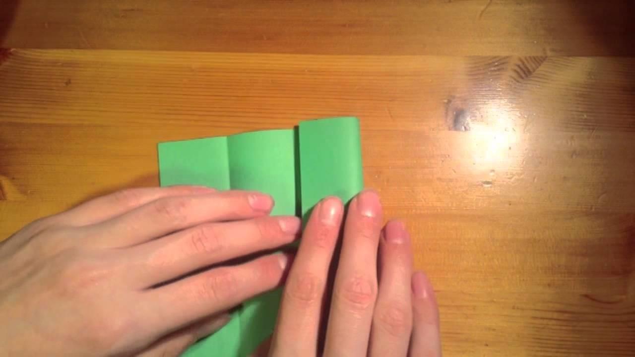 Papiertasche mit zwei Fächern falten. Origami Tasche