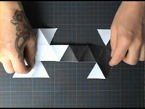 Polyeder - Oktaeder - No Origami - Kirigami