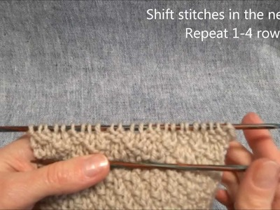 Schachbrett Strickmuster - Basket or Checkered Knitting Stitch - Stricken lernen-Learn how to knit