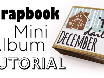 [Scrapbook Mini-Album Tutorial] December Daily Art Journal | DEUTSCH