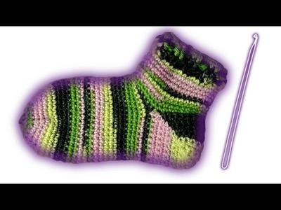 Socken häkeln lernen für Anfänger - Woolpedia