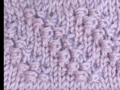 Strickmuster Diagonale Knoten mit Wickelmaschen - Knitting Diagonal Knots with Wrapped stitches 1