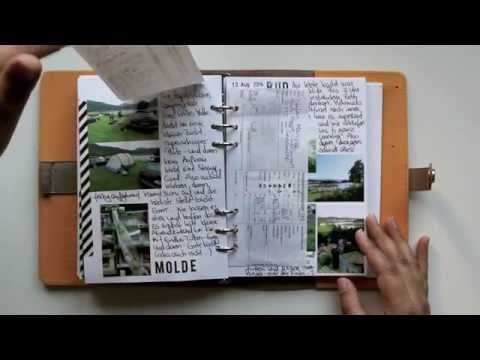 Travel Journal im Filofax | Norwegen Rundreise