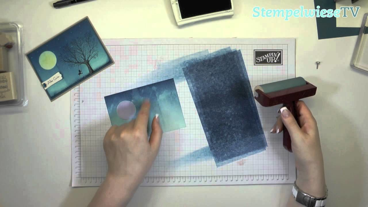 Tutorial - Brayer Technik - Stampin' Up!