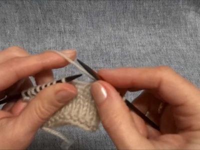 Umschläge stricken - Knit Yarn Overs, Fehler korrigieren - correct mistakes - Stricken lernen