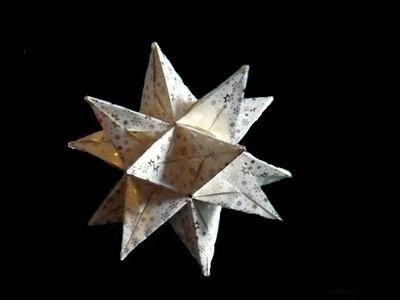 2.Bascettastern DIY 3D Stern (oder Tutorial) Origami
