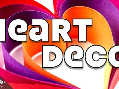 Anleitung DEKO HERZ Basteln Valentinstag Muttertag | DIY Heart Deco Instructions Valentine's Day