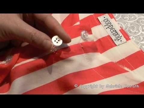 Anleitung Knopf annähen mit 2 + 4 Löcher, mit + ohne Steg DIY