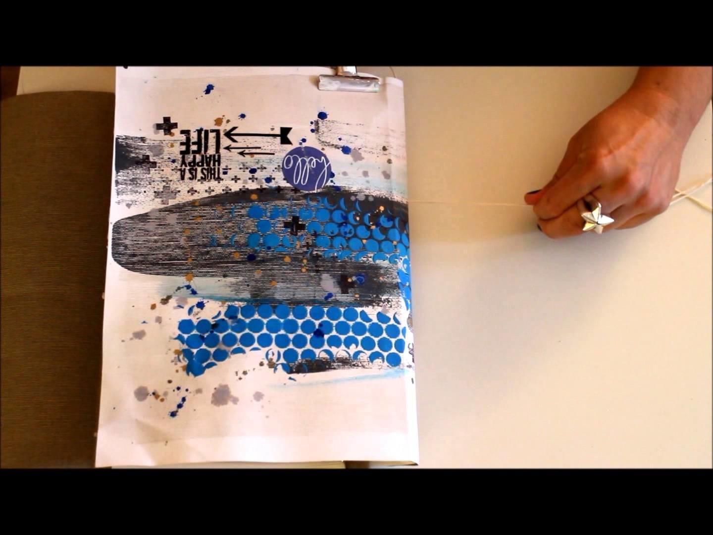 DIY Art Journal selber Binden