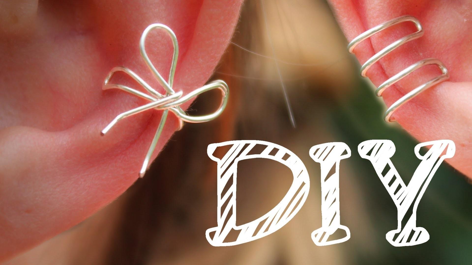 |DIY| Ohrklemme aus Draht - Ear Cuff - Schleife - Ohr-Manschette - super easy - 3 Varianten