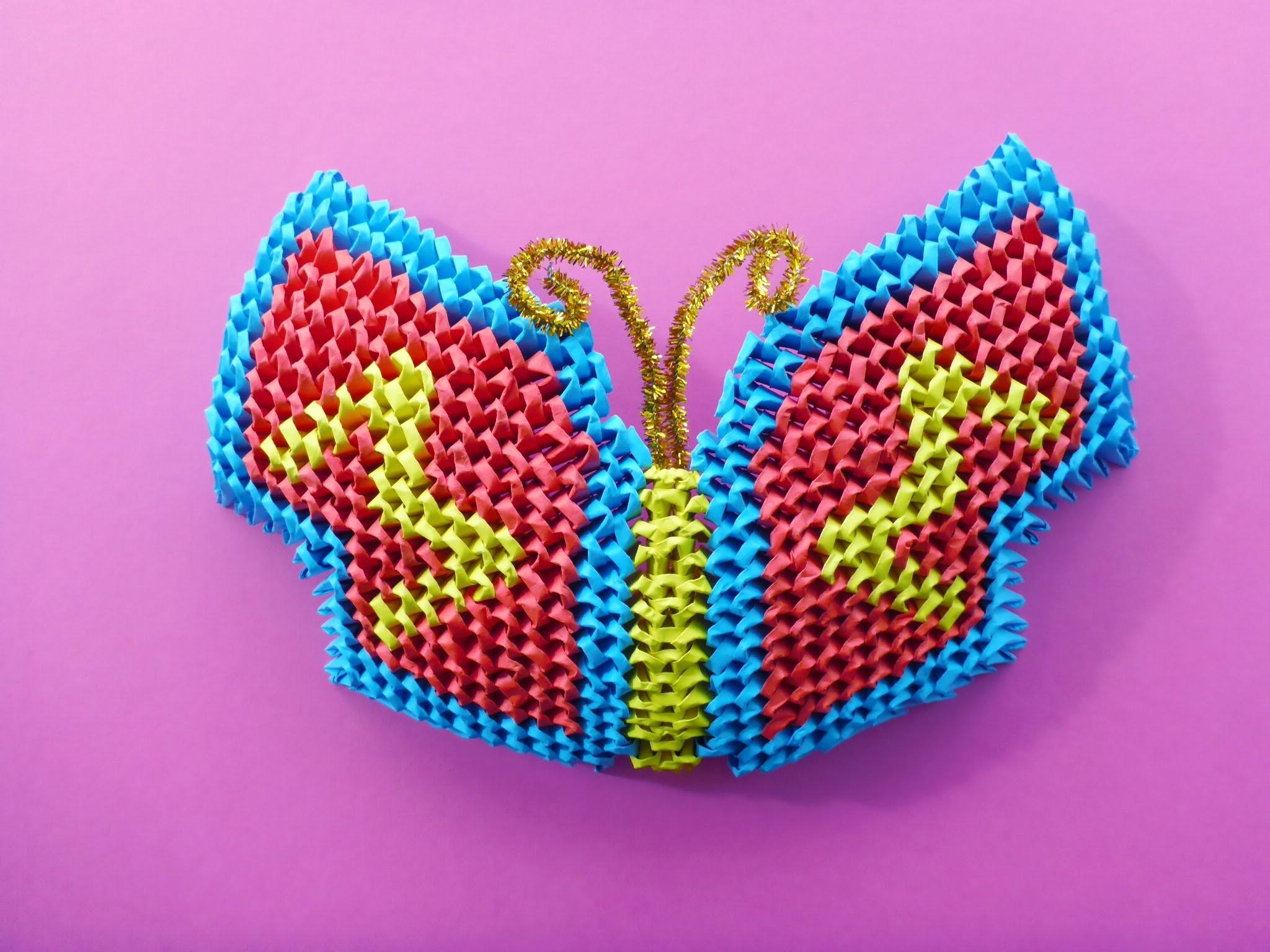 DIY Origami 3D Schmetterling Geschenk Gift Ideas Butterfly Tutorial Anleitung