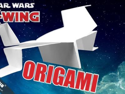 DIY Paper Airplane Star Wars X Wing | Origami Anleitung PAPIERFLIEGER. Papierflugzeug | 摺紙 紙飛機