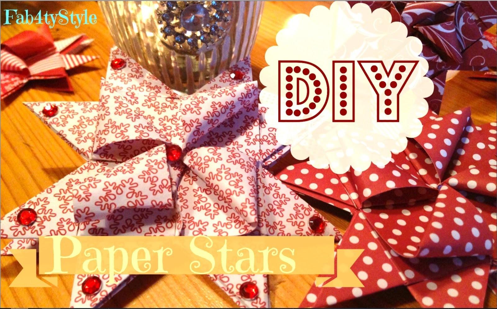 ☆ DIY Papiersterne ☆ Fröbel Sterne ☆ DIY Paper Stars ♥ Fab4tyStyle