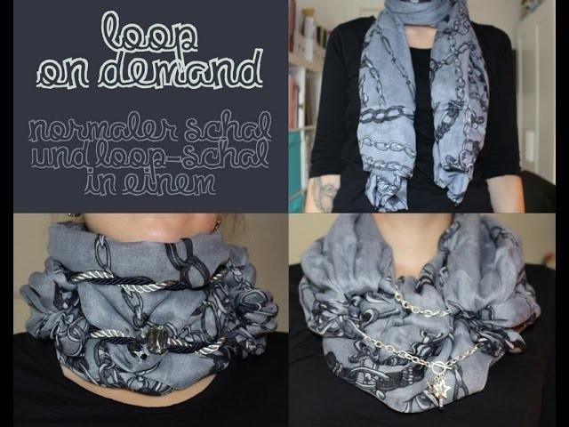DIY Tutorial - Loop on demand nähen - normaler Schal und Loop-Schal in einem (aus einem Tuch genäht)