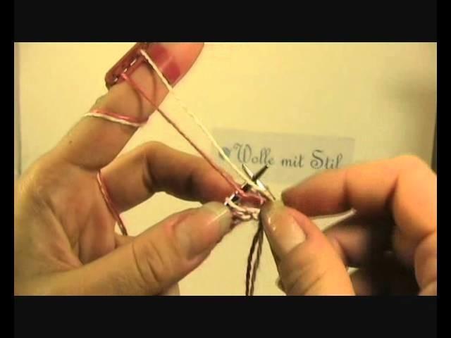 Double Knitting zweite Reihe