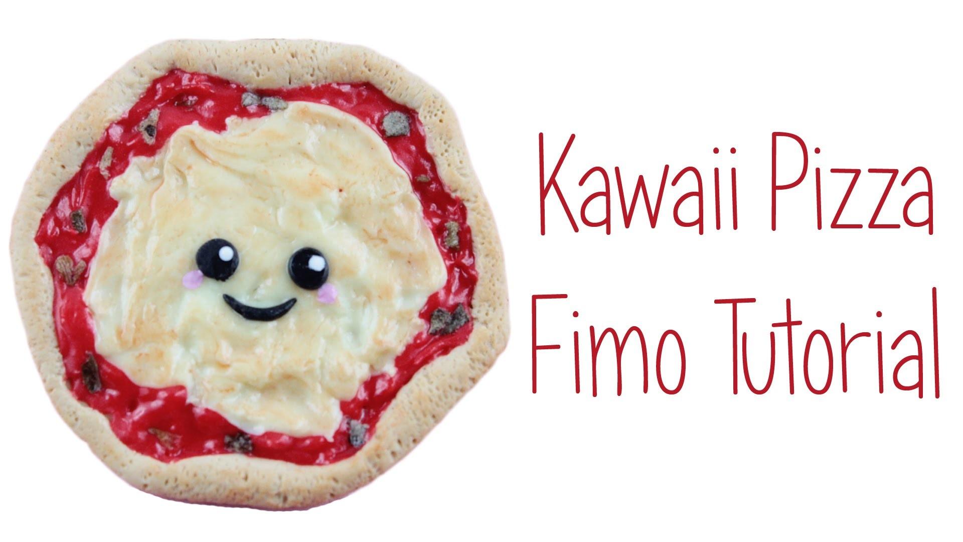 [Fimo Friday] Kawaii Pizza Fimo Tutorial. Kawaii Pizza polymer clay tutorial  | Anielas Fimo