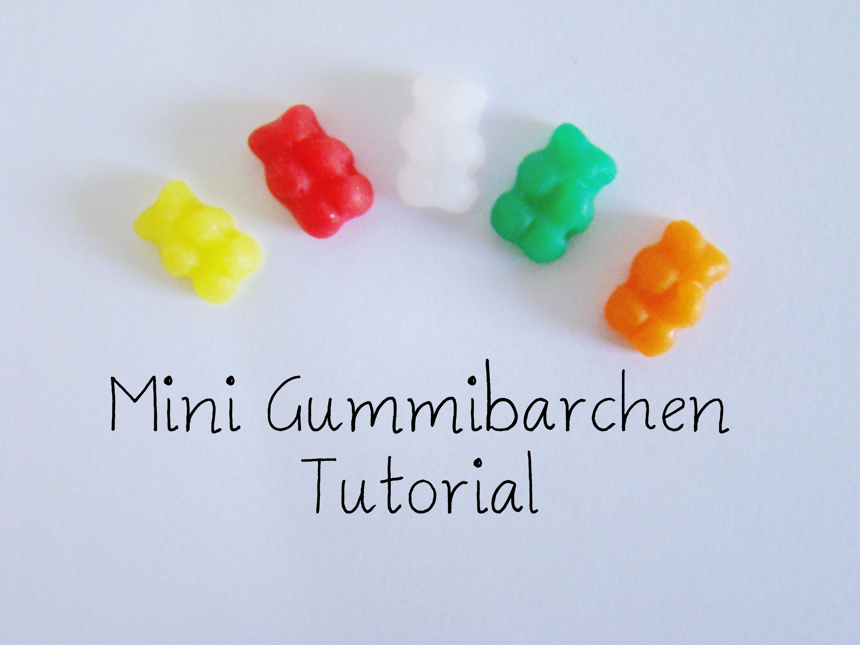 [Fimo] Mini Gummibärchen Fimo Anleitung. Miniature gummybears polymer clay tutorial  | Anielas Fimo