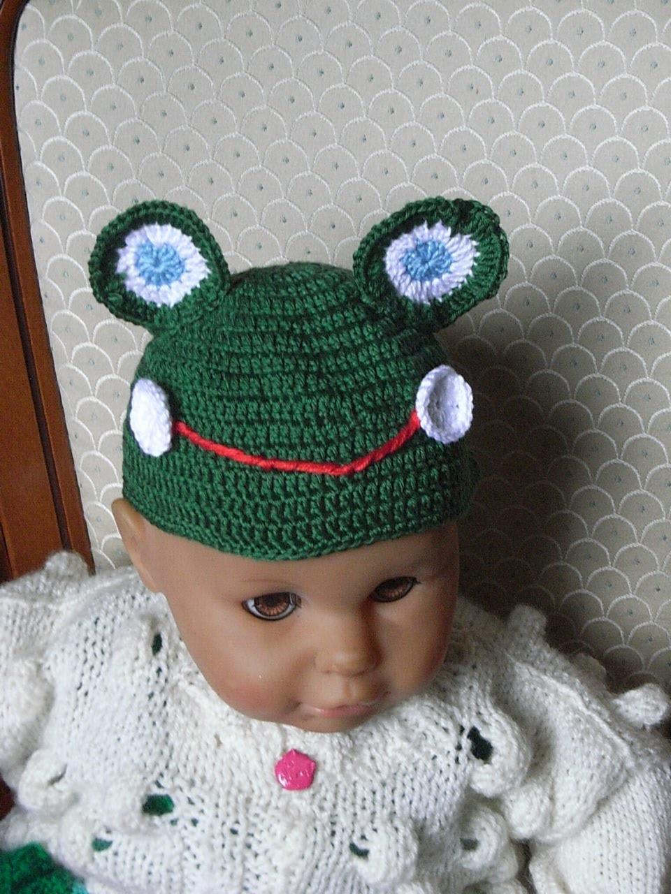 Frosch Baby Mütze Häkeln*Frog  Baby hat crochet*Tutorial Handarbeit