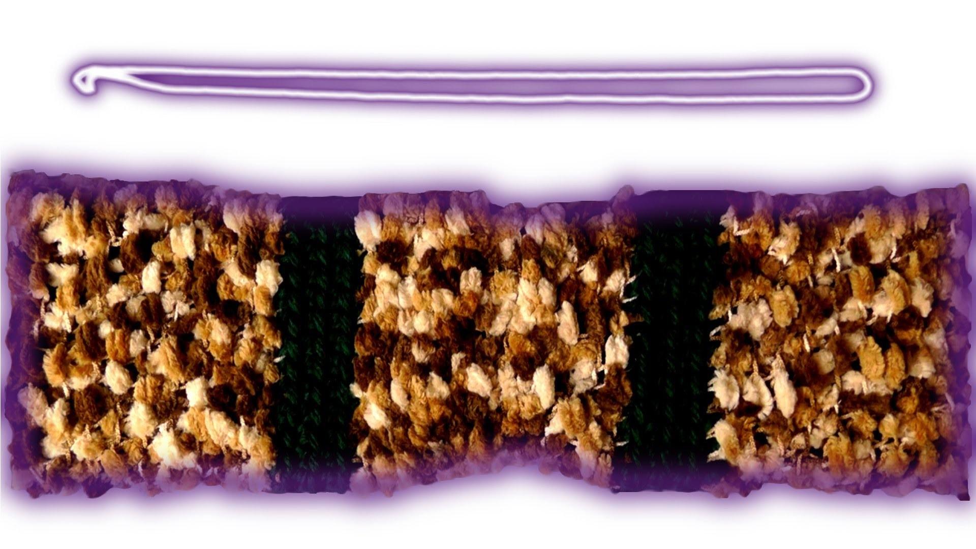 Häkelanleitung Effekt-Schal für Linkshänder