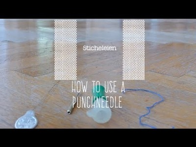 How to use a Punch Needle - Learn to stitch really fast