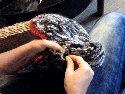 Keka # Trachten STIEFEL @ Hausschuhe @ stricken und verfilzen,filzen, aus 100% Filzwolle Part 2.2