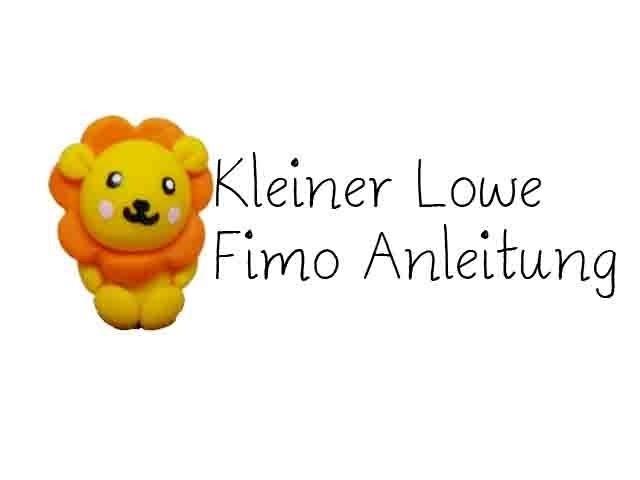 Löwe Fimo Tutorial. Lion Polymer Clay Tutorial