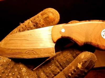 Messergriff selbstgemacht - 004 - Perlholz und Zyricote