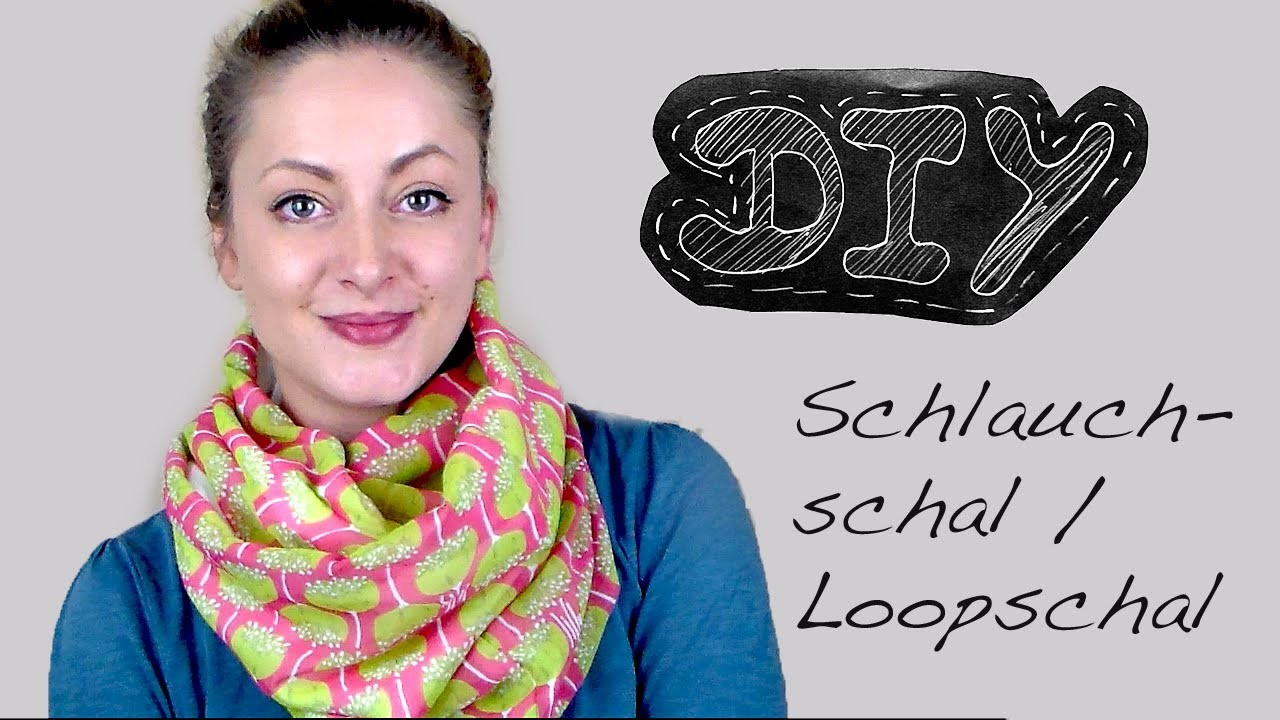 Nähanleitung Schlauchschal nähen - Loopschal Wendeschal Rundschal Loop Schal Anleitung kostenlos