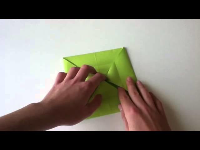Origami Box falten - Papier Kästchen basteln