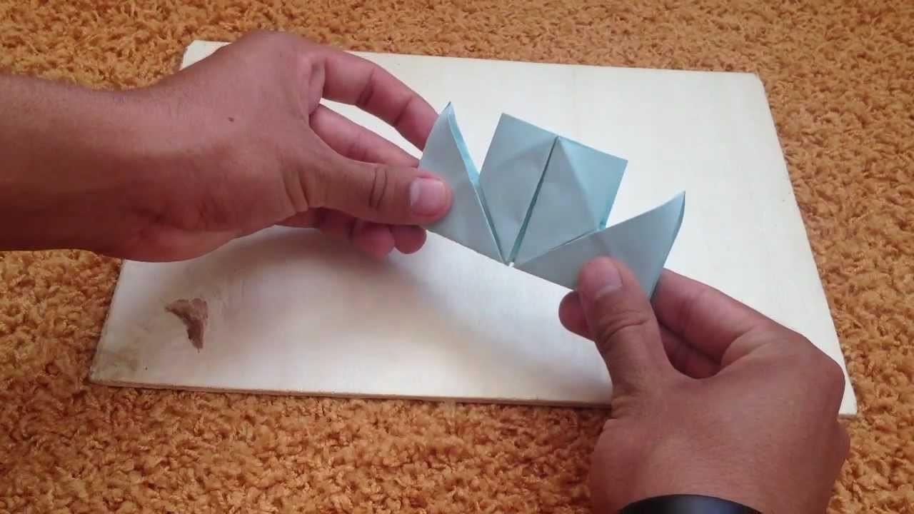 Origami Dampfer - Faltanleitung für Papier Dampfer