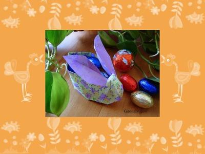 Origami ✿ Easter Bunny Basket ✿