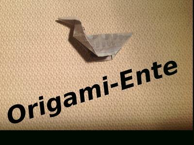 Origami: Geld-Ente Basteln mit einem Geldschein