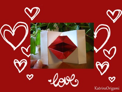 Origami ⊰♥⊱ Kissing Lips ⊰♥⊱