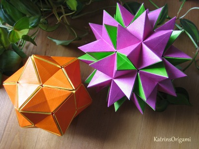 Origami ✿ Revealed Flower ✿ ( PopUp Star)