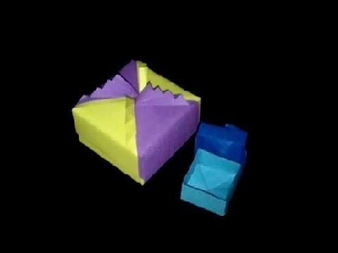 Origami Schatulle: Faltanleitung Papierschachtel [HD]