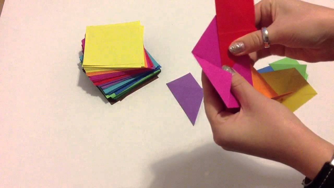 Origami Stern falten - Stern aus Papier basteln