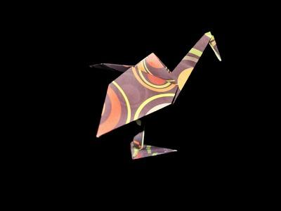 Origami Storch (Stork) - Faltanleitung [HD] (Live erklärt)