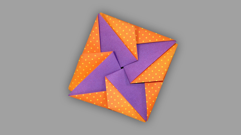 Origami Umschlag Stern: Star Envelope - Faltanleitung (Live erklärt)