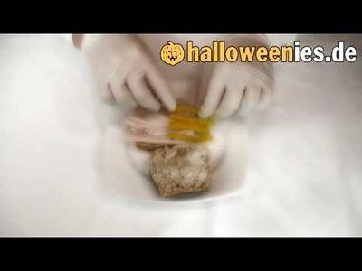 Spinnenbrötchen Rezept für Halloween