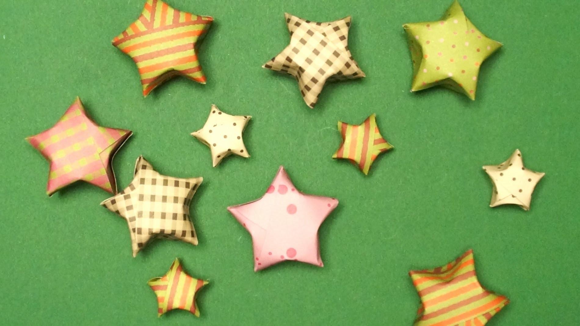 Sterne basteln zu Weihnachten: einen origami Stern falten