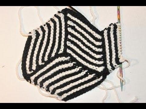 Stricken lernen * Hexen Ecken für coole Decken * Knitting Illusion Cube Blanket