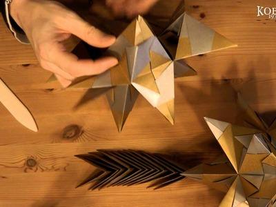 Anleitung zum falten eines Bascetta Stern, Weihnachtsstern Origami